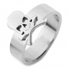 SHIYING JZ159 Men's Skull Style 316L Stainless Steel Ring - Silver
