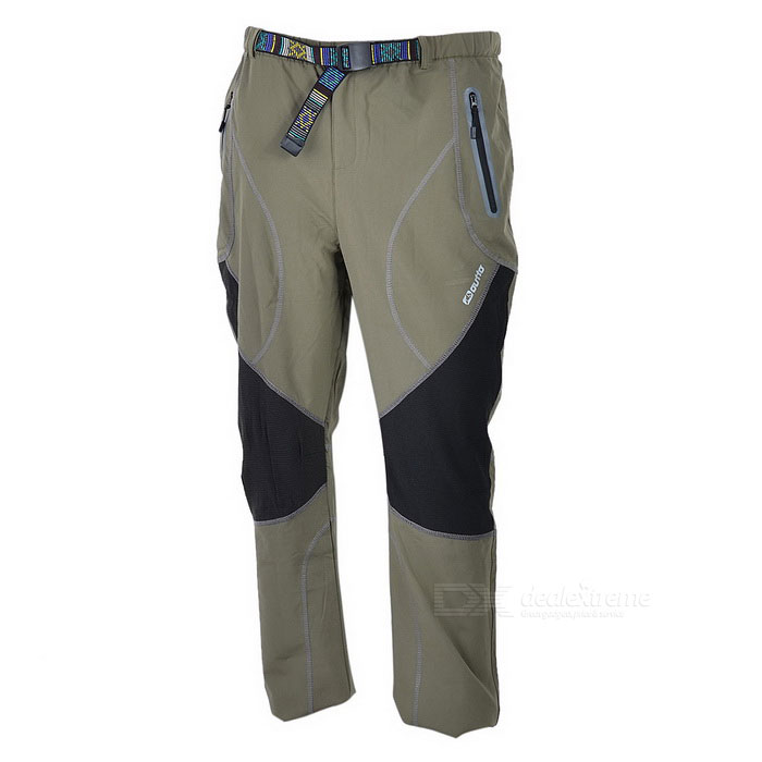 Outto Outdoor Sports Waterproof Polyester Pants for Men - Khaki + Black (XXL)