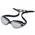 Sinca S1938M Anti-Fog Electroplating Swimming Goggles - Black + Translucent Black