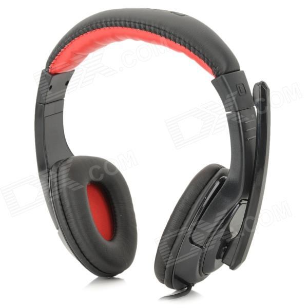 OVLENG Q12 Universal USB 2.0 Wired Headphone w / microfone para computadores - Preto