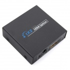 iTaSee IT003 1080P 1-Input to 2-Output HDMI Switch Splitter Switcher - Black (US Plug)