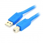 USB 2.0 High Speed Printer Connection Flat Cable - Deep Blue (150cm)
