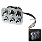 Distinct Distance 18W 1500lm 8-LED White Light Motorcycle Headlamp w/ Two Colorful Angel Eye (12V)