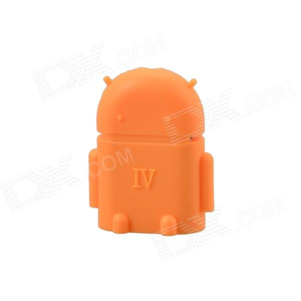 Cute Mini Android Style Micro USB OTG USB Drive Reader for Samsung / Sony - Orange