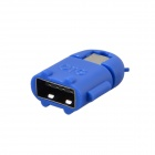 Cute Mini Android Style Micro USB OTG USB Drive Reader for Samsung / Sony - Deep Blue