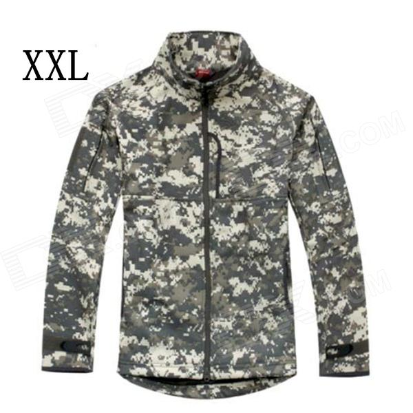 ESDY-0106 Commander Outdoor Sports Waterproof Warm Polyester Jacket for Men - Camouflage (XXL) esdy 619 men s outdoor sports climbing detachable quick drying polyester shirt camouflage xxl