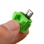 Cute Mini Android Style Micro USB OTG USB Drive Reader for Samsung / Sony - Fruit Green
