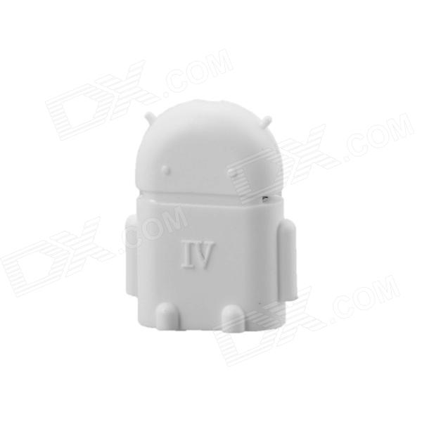 Cute Mini Android Style Micro USB OTG USB Drive Reader for Samsung / Sony - WhiteAdapters &amp; Converters<br>Form ColorWhiteBrandN/AModelN/AMaterialPlastic + aluminum alloyQuantity1 DX.PCM.Model.AttributeModel.UnitCompatible ModelsOthers,The cell phone with Micro USB interface which support OTG function, such as Samsung i9100 / i9250 / i9220 / N7000 / N7100 / i9300, Sony LT26 / LT26II / LT29 / XL39 / Z1, etc.Converter TypeMicro USB male to USB 3.0 femaleConnectorMicro USB male to USB 3.0 femaleCable Length0 DX.PCM.Model.AttributeModel.UnitPacking List1 x OTG adapter<br>