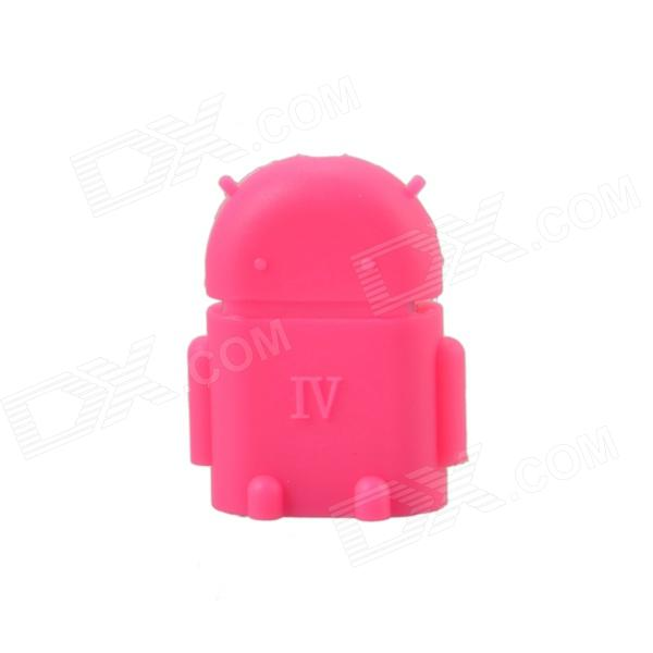 Cute Mini Android Style Micro USB OTG USB Drive Reader for Samsung / Sony - Deep Pink