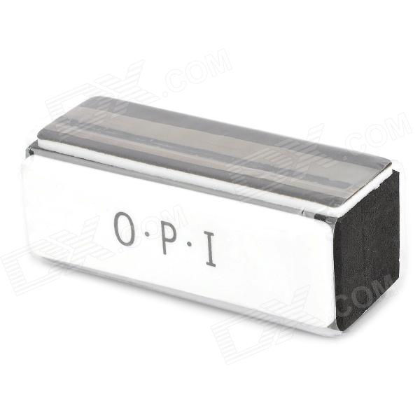 OPI LX099 Sponge Four-Side Nail Care Buffing File - White + Dark Grey + Black