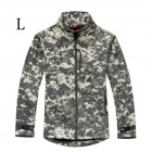 ESDY-0106 Commander Outdoor Sports Waterproof Warm Polyester Jacket for Men - Camouflage (L)