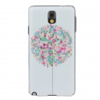 Fashion Colored Drawing Pattern Protective Plastic Back Case for Samsung Galaxy Note 3 N9005 - White