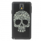 Skull Colored Drawing Pattern Protective Plastic Back Case for Samsung Galaxy Note 3 N9005 - Black