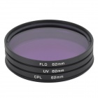 EOSCN Universal 62mm UV + CPL + FLD Lens Filter for DSLR