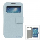SLDPJ Stylish Ultra-thin Protective PU Leather Case Cover for Samsung Galaxy S4 i9500 - Light Blue