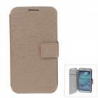 SLDPJ Stylish Ultra-thin Protective PU Leather Case Cover for Samsung Galaxy S4 i9500 - Brown