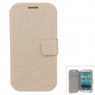 SLDPJ Fashionable Ultra-thin Protective PU Leather Case Cover for Samsung Galaxy S3 i9300 - Khaki