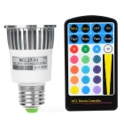 16-Color Remote Controlled LED Light Bulb with Multiple Effects (E-27 Socket)