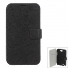 SLDPJ Fashionable Ultra-thin Protective PU Leather Case for Samsung Galaxy Note 2 N7100 - Black
