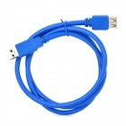 USB 3.0 A Male to USB 3.0 A Female Connection Cable - Blue (100cm)