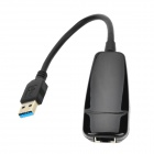 USB3.0 to 10/100/1000M Ethernet Adapter Network Card for Apple / Samsung / Sony - Black