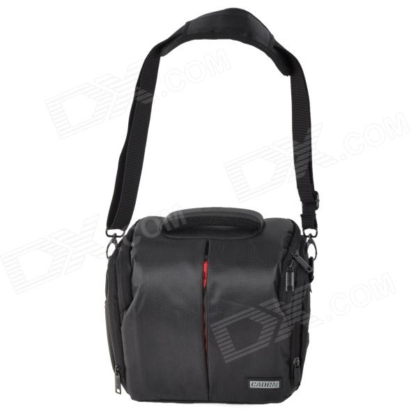 CADEN D3S High Density Thicken Nylon SLR Camera Bag - BlackBags and Cases<br>Form ColorBlackBrandCADENModelD3SMaterialHigh density waterproof nylonQuantity1 DX.PCM.Model.AttributeModel.UnitWater ResistantOthers,With rain coverAnti-ShockYesSizeSInner Dimension20 x 18 x 12cmOther FeaturesHigh density, waterproof, dustproof, and wear resistance; Double sided waterproof coating processing; With 2PCS thicken anti-shock <br>cotton partition; High quality hardware accessories, can bearing -25C temperaturePacking List1 x Bag1 x Rain cover1 x Waist strap (100cm)1 x Shoulder strap (120cm)<br>