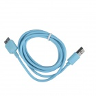 KS-U330 USB 3.0 Male to Micro B 9-Pin Data / Charging Cable for Samsung Galaxy Note 3 - Light Blue