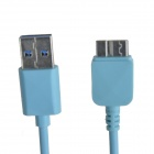 KS-U330 USB 3.0 macho a Micro B 9-Pin de datos / cable de carga para Samsung Galaxy Note 3 - Light Blue