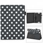 Stylish Polka Dot Style Protective Case for Amazon Kindle Fire DHX7 - Black + White
