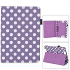 Stylish Polka Dot Style Protective Case for Amazon Kindle Fire DHX7 - Purple + White