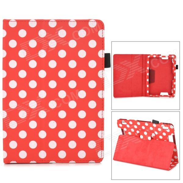 Stylish Polka Dot Style Protective Case for Amazon Kindle Fire DHX7 - Red + White