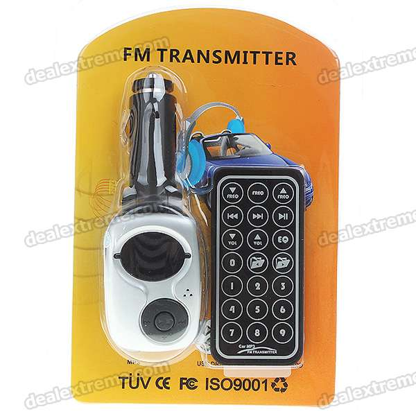 "0.9"" LCD Car MP3 Player FM Transmitter (SD/USB/3.5mm)"