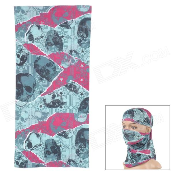Outto Skull Pattern Outdoor Sports Cycling Quick-drying Headscarf - Purple + Green + Multi-Colored professional sports kneepad warm air drying