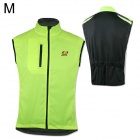 Outto Sports Cycling Rainproof Clothing Vest for Men - Black + Fluorescent Green (M)