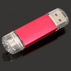 Unique Cellphone-used USB 2.0 to Micro USB Interface Datatraveler USB Disk - Deep Pink (8GB)