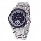 DayBird 3784 Stylish Six Stitches Stopwatch Man's Quartz Wrist Watch - Silver + Black + White