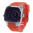 SPEATAK SP9039G Dual Time Display + Simple Calendar Men's Quartz Wrist Watch - Orange + Silver
