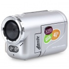 "Amkov DV136 1.5"" LCD 3.1 MP CMOS HD Digital Video Camcorder w/ 4X Digital Zoom / USB / AV/SD - White"