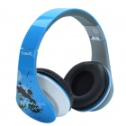 HAVIT HV-85D Adjustable Big Ear Pad Headphone - White + Blue + Multi-color