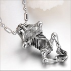 GX562 Magic Skeleton Frame 316L Stainless Steel Men's Necklace - Silver