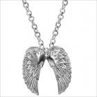 GX544 Overlord Wings 316 L Stainless Steel Men's Necklace - Silver