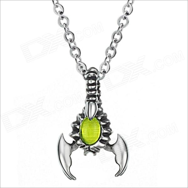 GX543 Scorpion Magic Light Beads 316 L Stainless Steel Mens Necklace - Silver - DXNecklaces<br>Color Silver Model GX543 Quantity 1 Piece Gender Men Suitable for Adults Chain Material 316L Stainless Steel Pendant Material 316L Stainless Steel Chain Length 50 cm Chain Width 0.24 cm Packing List 1 x Necklace<br>