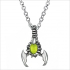 GX543 Scorpion Magic Light Beads 316 L Stainless Steel Men's Necklace - Silver