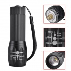 SingFire SF-508 LED 200lm 3-Mode Mini Zooming Flashlight Torch - Black (3 x AAA )
