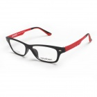 Reedoon UT2276-C63M Ultralight Plastic Steel Myopia Glasses Frame - Black + Red