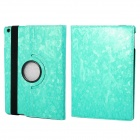 360' Rotation Protective PU+ PC Case Cover w/ Stand / Sleep for Ipad 5 / Ipad AIR - Mint Green