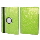 360' Rotation Protective PU+ PC Case Cover w/ Stand / Sleep for Ipad 5 / Ipad AIR - Light Green