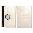 360' Rotation Protective PU+ PC Case Cover w/ Stand / Sleep for Ipad 5 / Ipad AIR - White