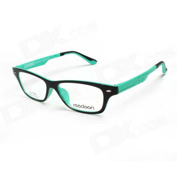 Reedoon UT2276-C908M Ultralight Plastic Steel Myopia Glasses Frame - Black + Green