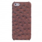 SAYOO 2393 Ostrich Striation PU Leather Mobile Phone Protective Back Case for Iphone 5 - Brown